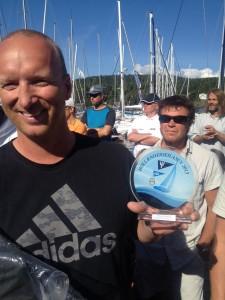 Joakim Fagerli med sin premie | Foto: Christian Skauge